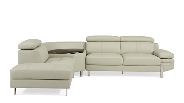 Continental Sectional Sofa / 443006R&443006L(Two Storages & Two Cup Holders)